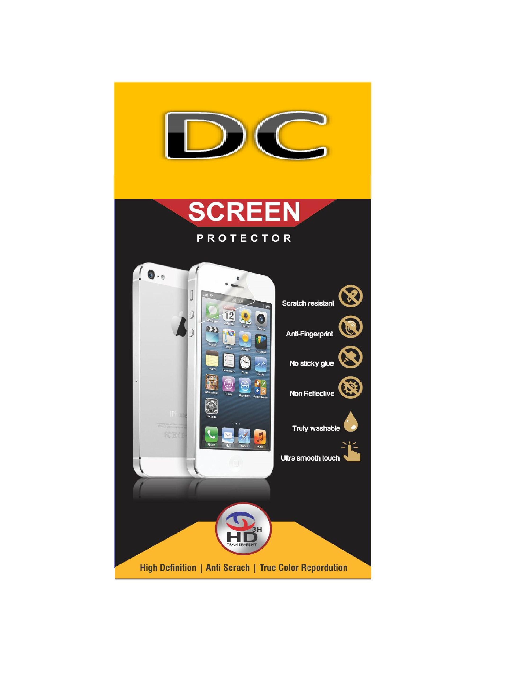LYF Flame 3 Tempered Glass Screen Guard By Doyen Creations