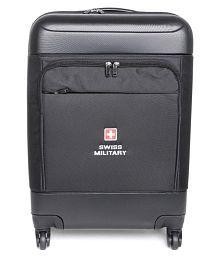 Swiss Military Black M( Between 61cm-69cm) Check-in Hard Luggage