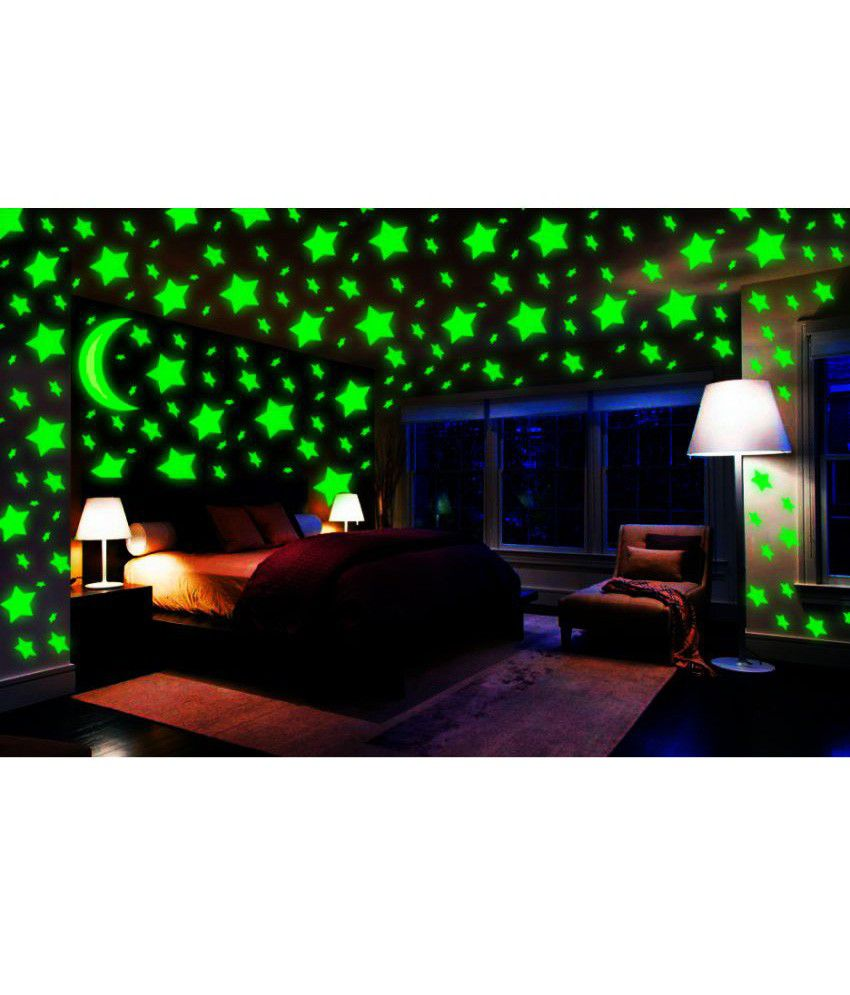 Wall stickers glowing - Booksreuse Glowing Star Pvc Wall Stickers