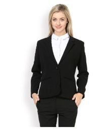 Vastra Innovation Black Poly Cotton Blazers