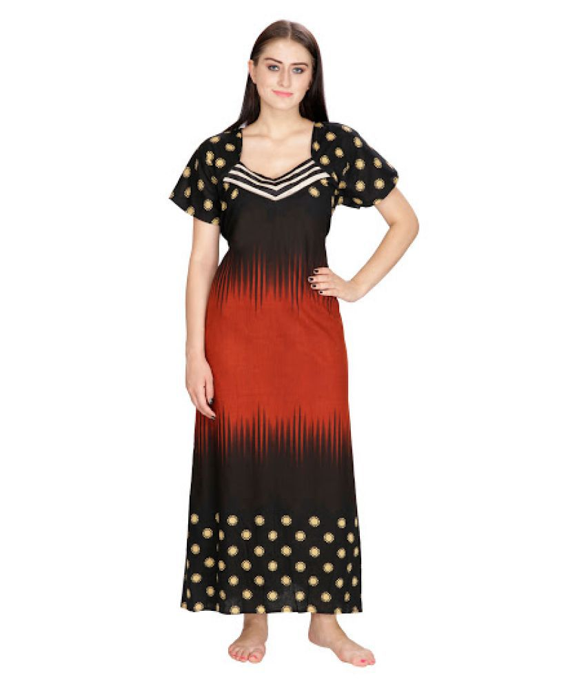 Klamotten Multi Color Cotton Nighty & Night Gowns