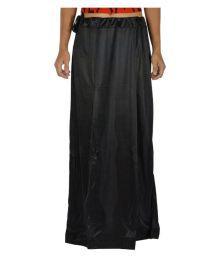 First Lady Black Satin Wrap Skirt