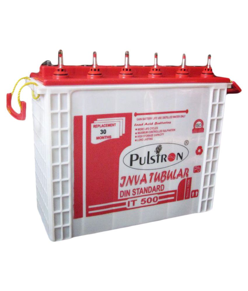Pulstron IT 500 Long Life/Extra Backup Inva Tubular Inverter Battery available at SnapDeal for Rs.8700