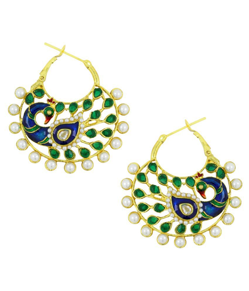The Jewelbox Multicolour Hanging Earrings