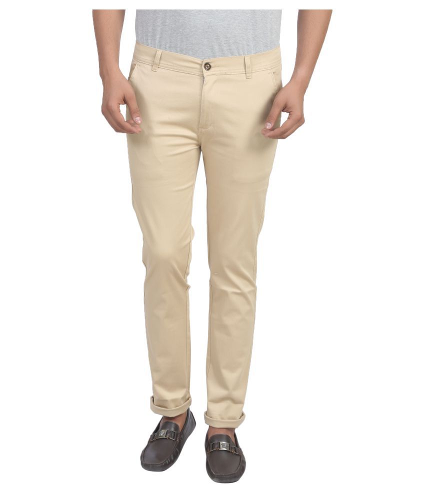 X-Cross Beige Slim Flat Trouser