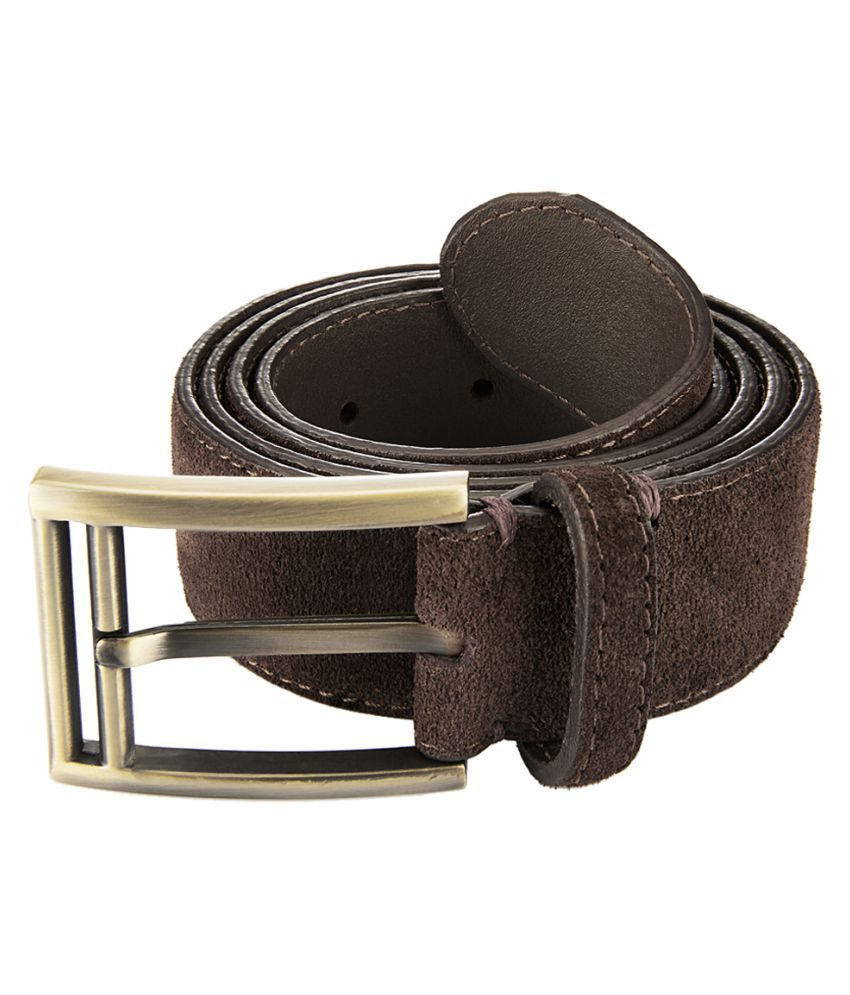 Parx Brown Leather Formal Belts