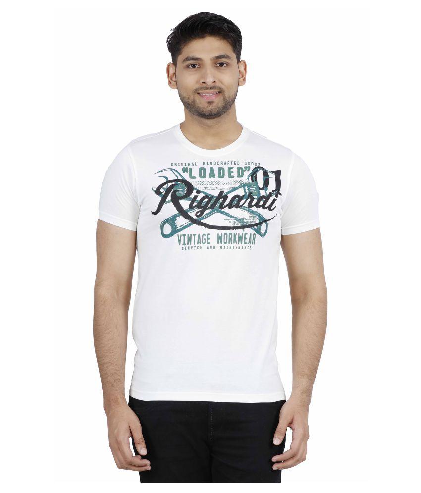 Righardi White Round T-Shirt