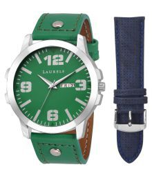 Laurels Green Analog Watch With 1 Strap