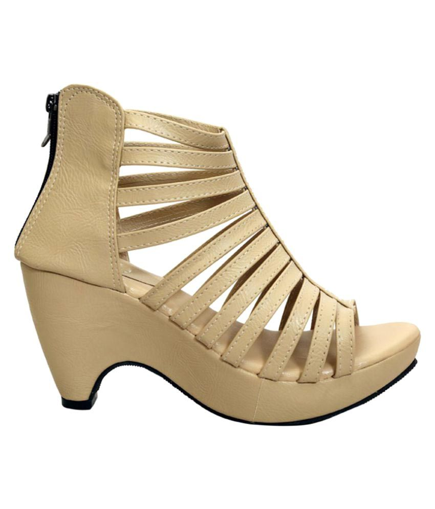 Shoe Lab Beige Block Heels free shipping marketable genuine online rxGqSjZY