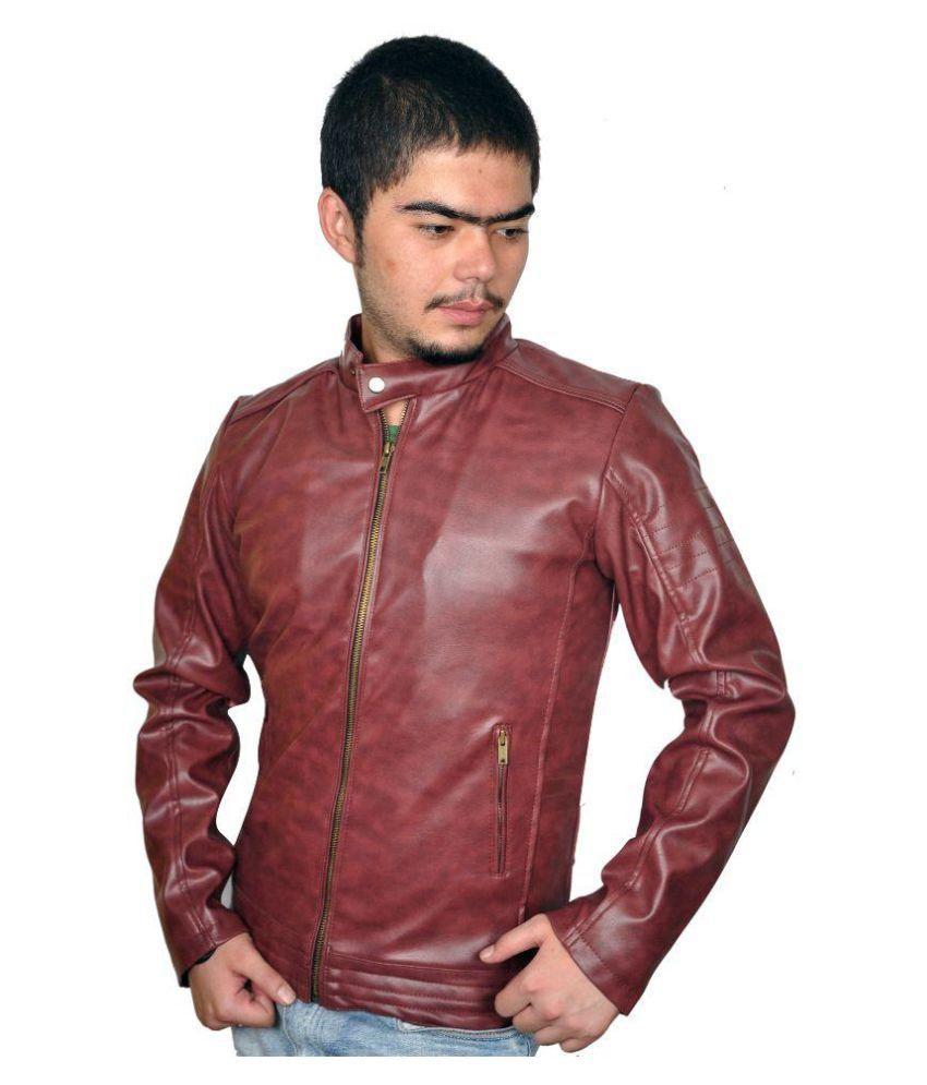 387fd411 Zara Maroon Biker Jacket - Buy Zara Maroon Biker Jacket Online at Best  Prices in India on Snapdeal