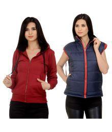 Darwin Multi Color Fleece Bomber Jackets With Sweatshirt - 621451123875
