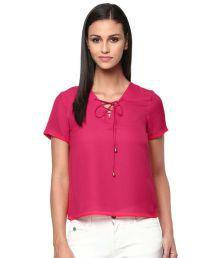 The Vanca Purple Polyester Regular Tops