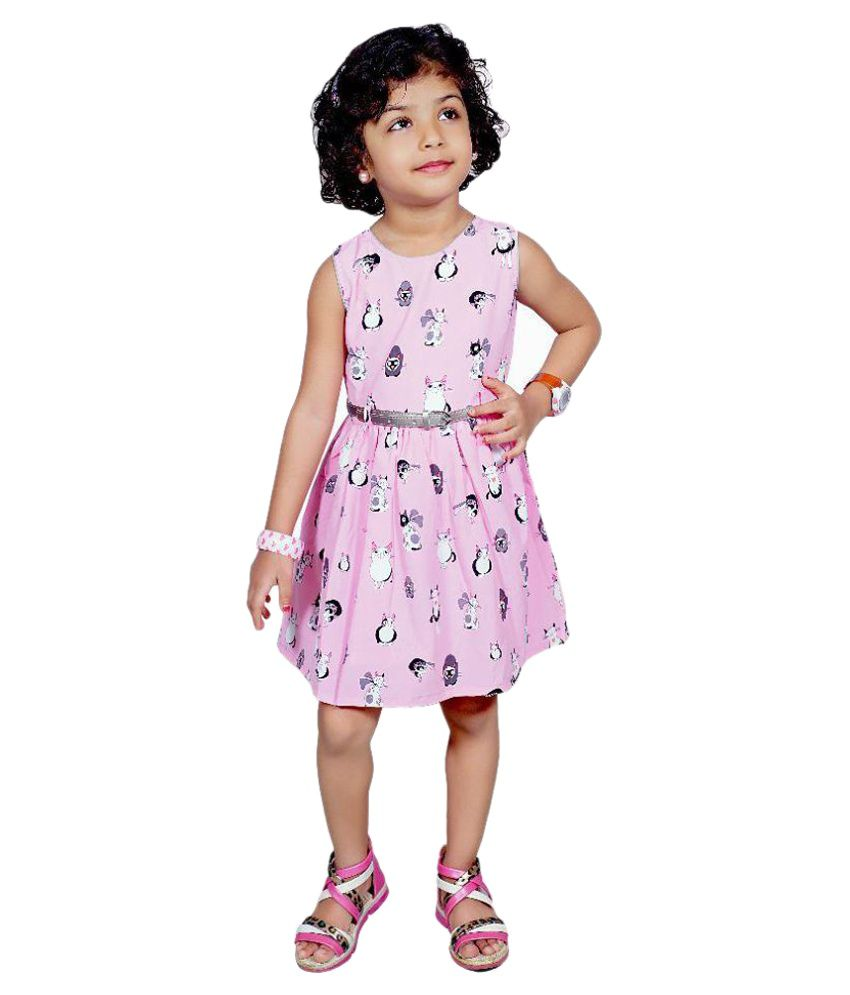 Laxmi Dresses Pink Cotton Frocks For Girls
