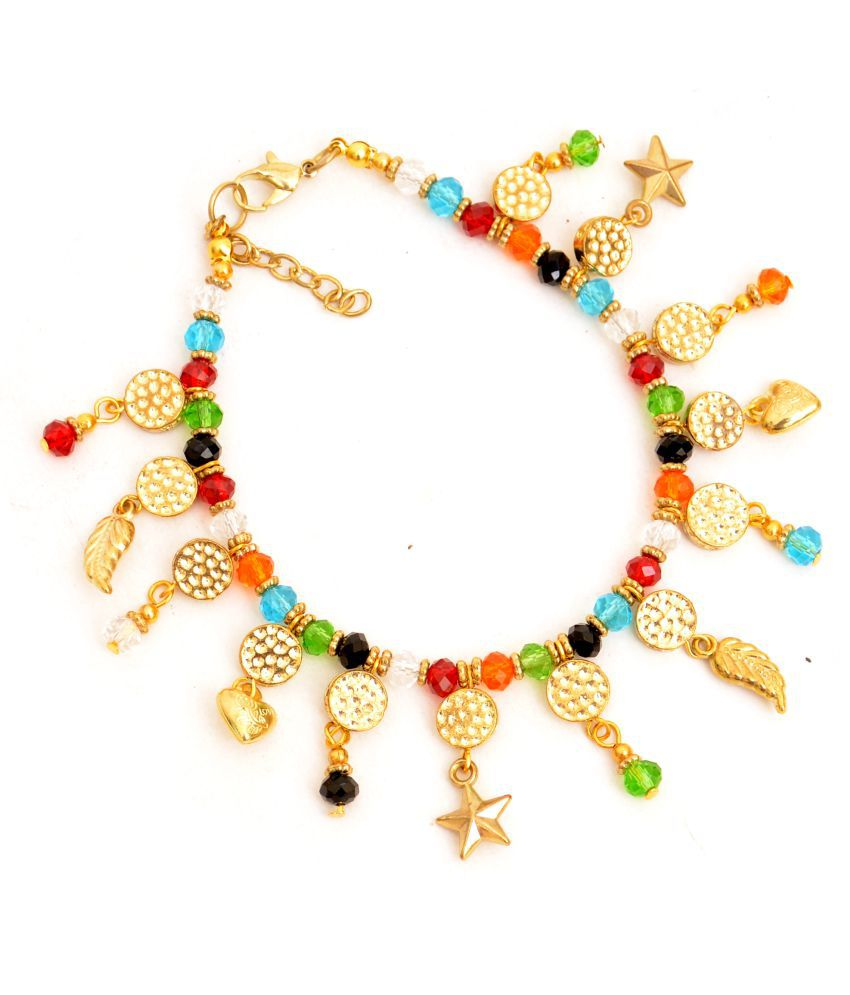 Zurri  Multicolored Charms Anklet