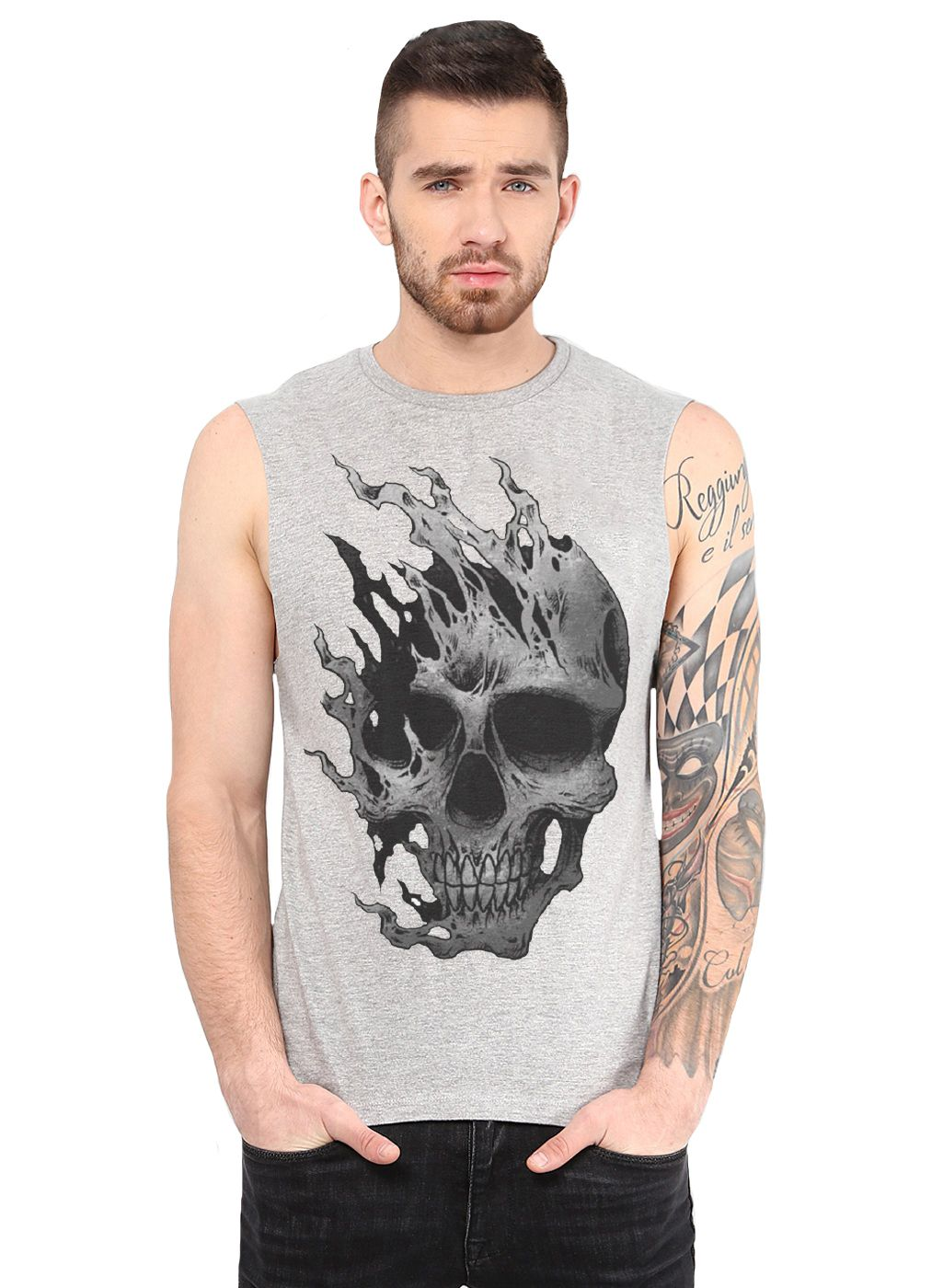 Ax7 Grey Polyester T-Shirt Single Pack