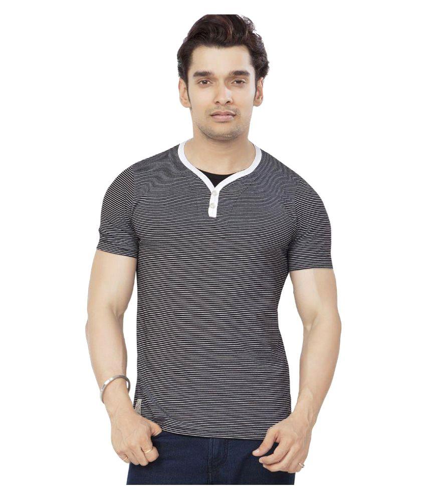 Bonaty Black Henley T-Shirt
