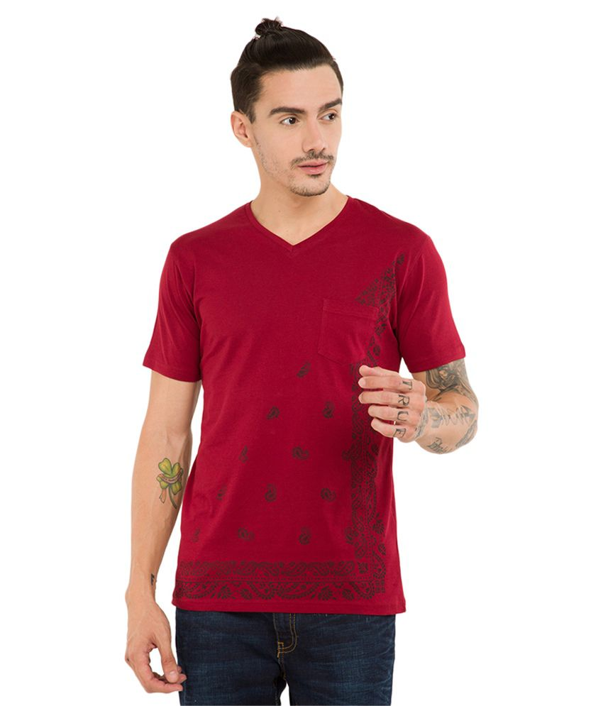 Locomotive Red V-Neck T-Shirt