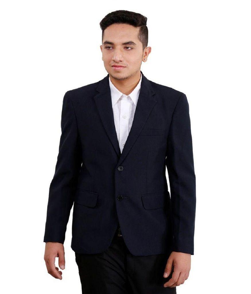 Vastra Innovation Navy Solid Formal Blazers