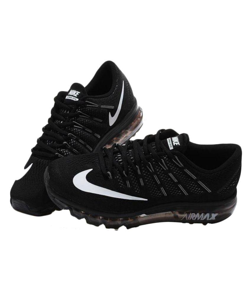 date de sortie: ea937 f6fa1 Nike Nike Air Max 2016 BLACK WHITE Black Running Shoes