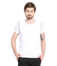 Duke White V-Neck T-Shirt