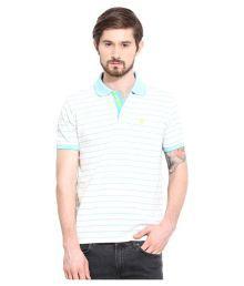 Duke White Regular Fit Polo T Shirt - 663081496998