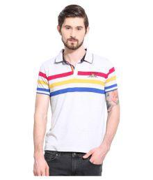 Duke White Slim Fit Polo T Shirt