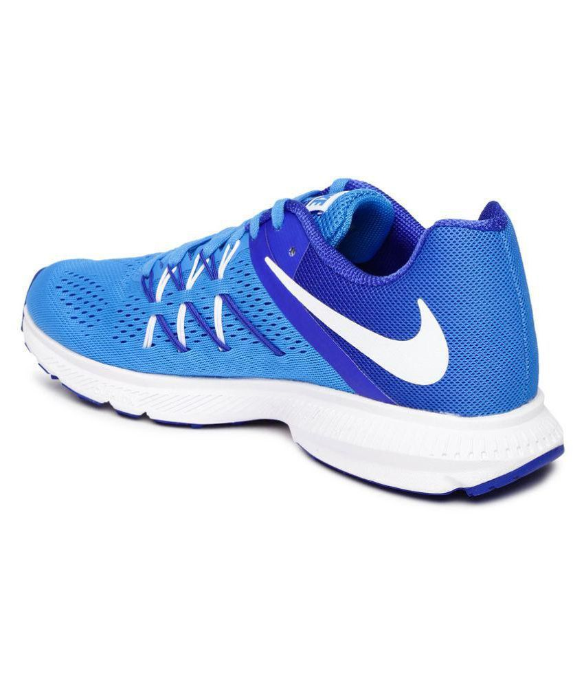 reputable site 20e3b 02caf ... Nike Zoom Winflo 3 Blue Running Shoes ...
