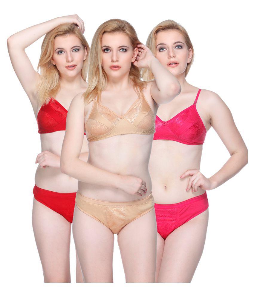 Girlsz Multi Color Cotton Bikini Panties Set of 3