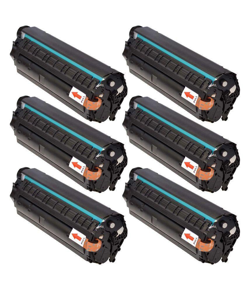 Ac Cartridge 12a Black Toner Pack Of 6 1010 1010w 1012 Compatible 1020 1015 1018 1022 1022n 1022nw M1005 M1319f 3015