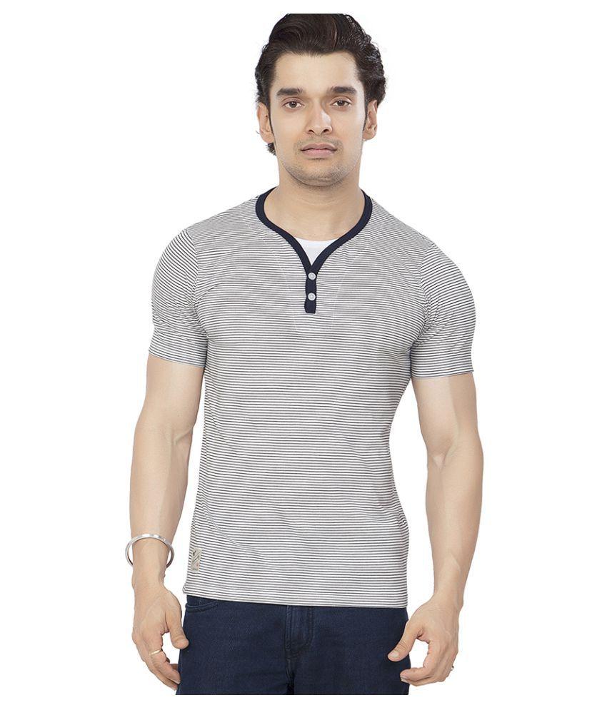 Bonaty White Henley T-Shirt