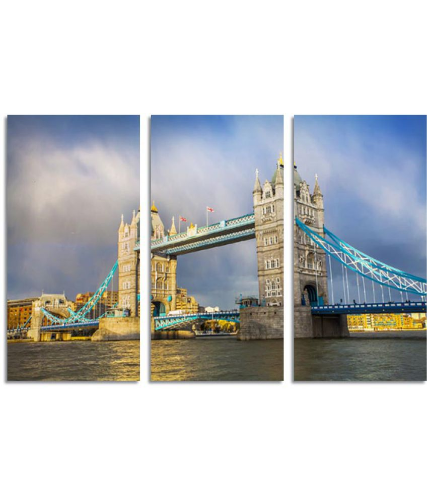 ELL DECOR Abstract Canvas Art Prints Without Frame 3 Combination