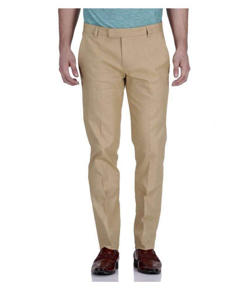 Roy Khaki Regular Flat Trouser
