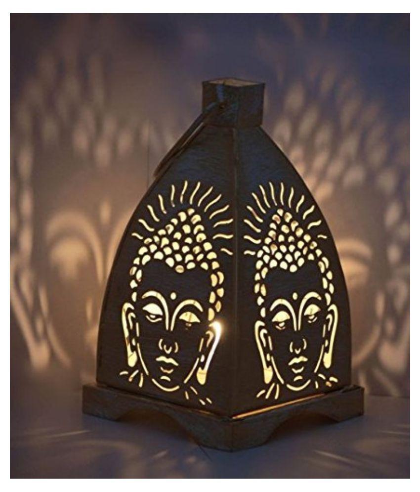 ... Indigo Creatives Iron Buddha Diwali Tea Light Table Lamp ...