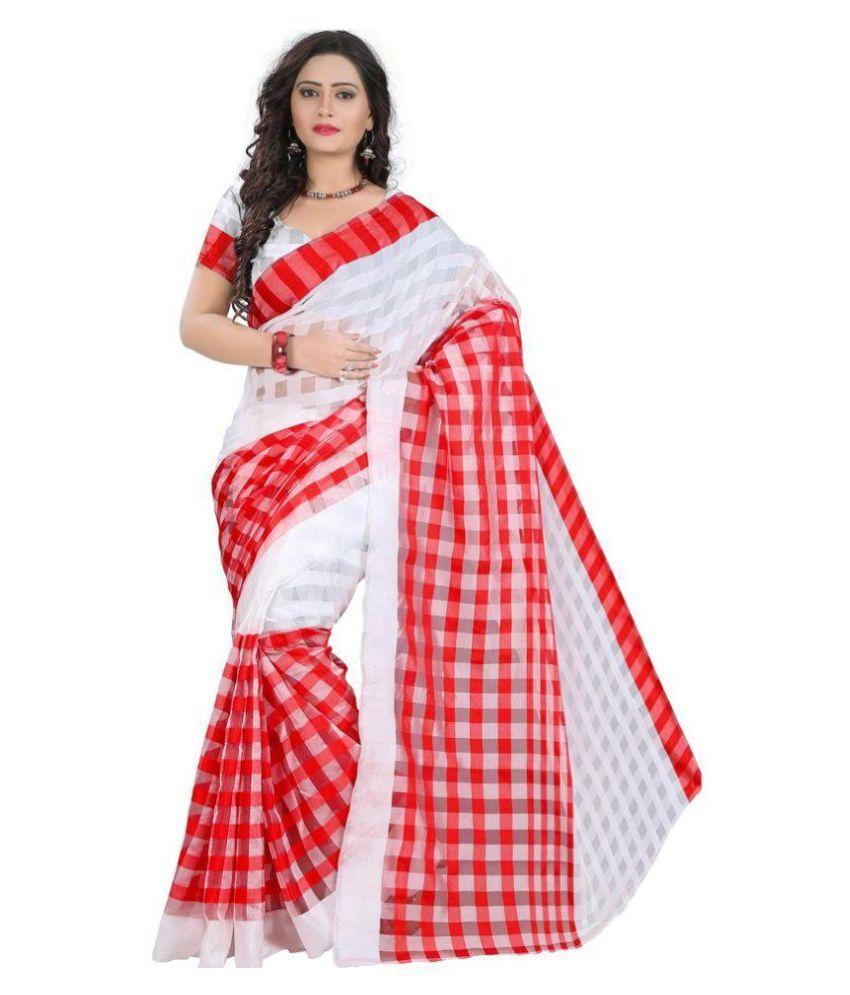 Zpluesx Multicoloured Cotton Silk Saree