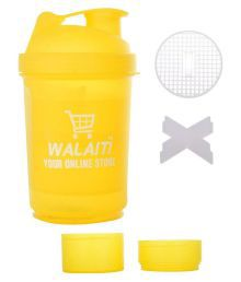 Walaiti Yellow Protein Shaker Bottle - 500 Ml