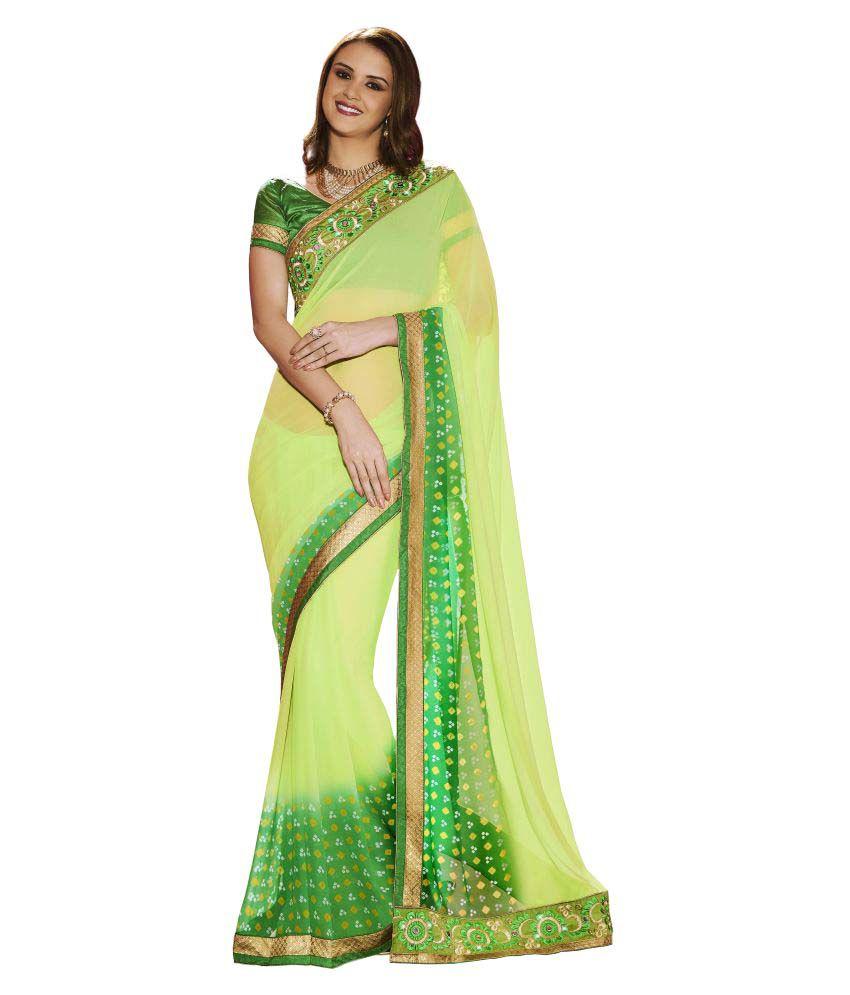 Bahubali Multicoloured Georgette Saree