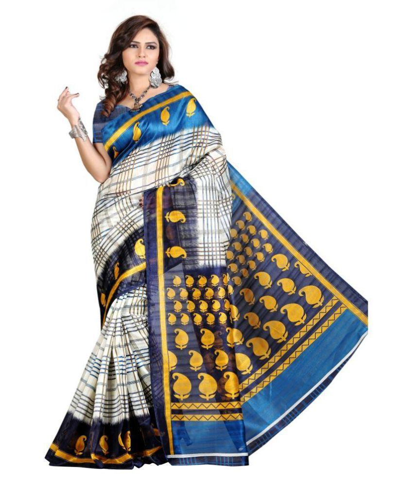 Edeal Multicoloured Bhagalpuri Silk Saree