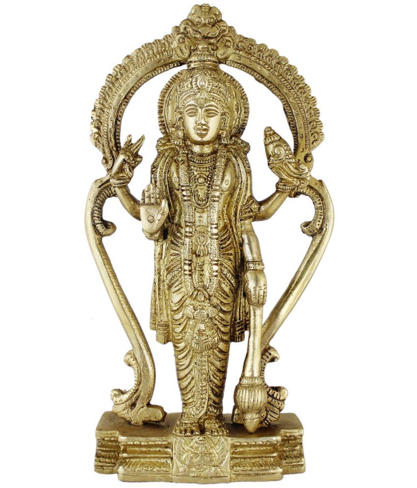 Royaltylane Vishnu Brass Idol