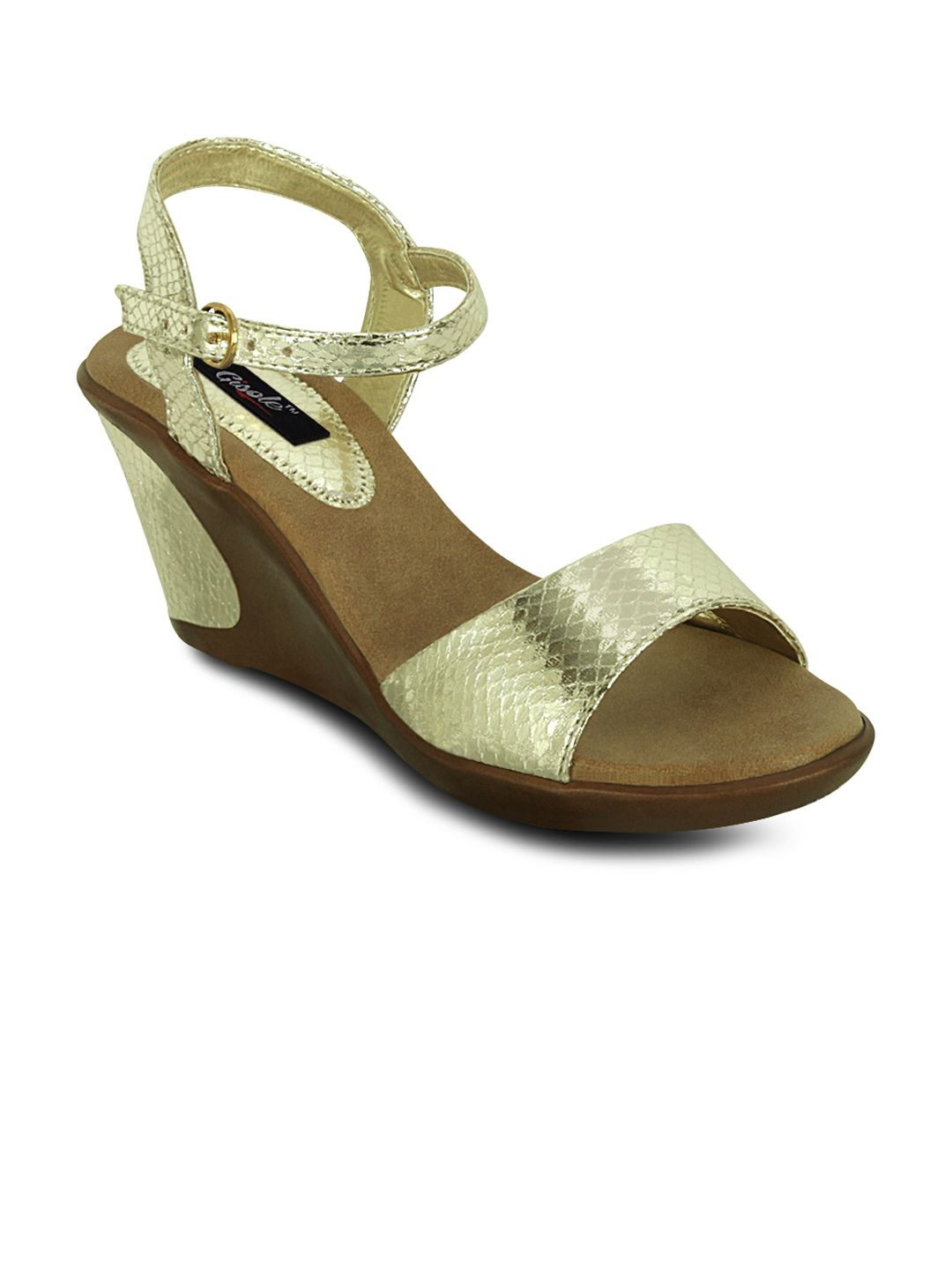 Gisole Gold Wedges Heels