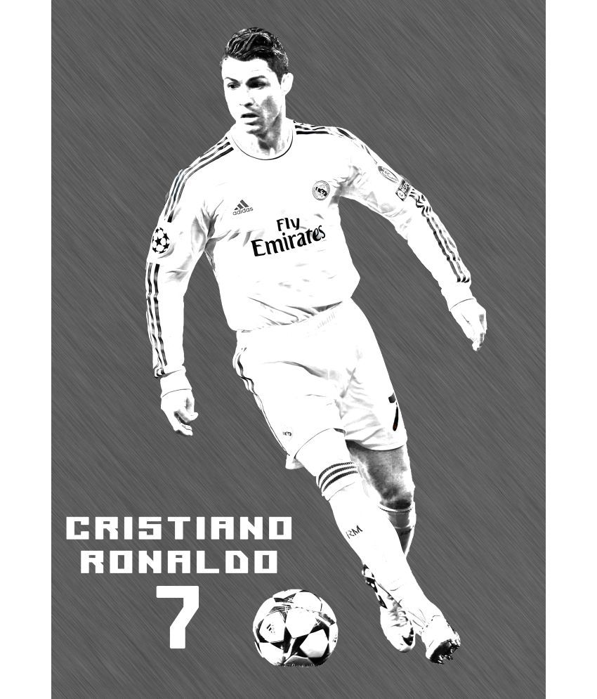 642 stitches cristiano ronaldo sketch paper art prints without frame rh snapdeal com