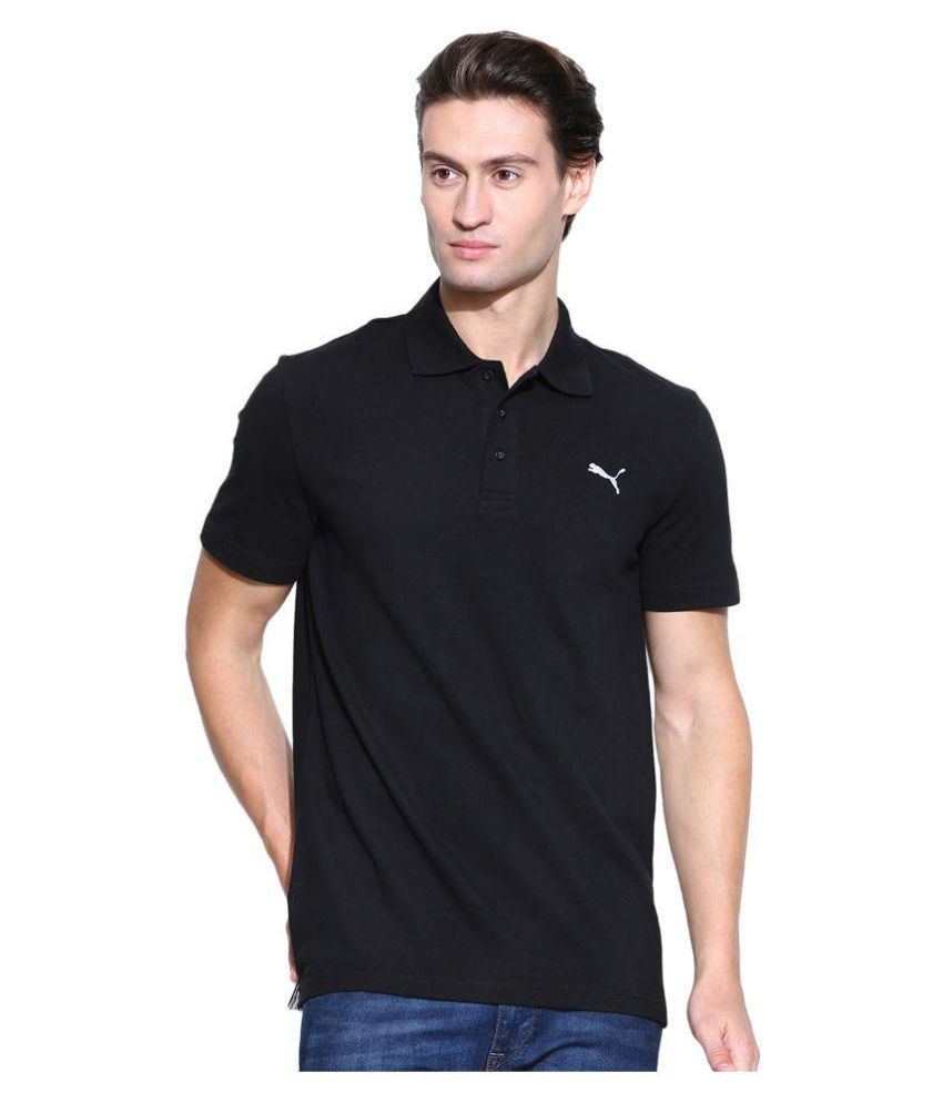 Puma Black Cotton Sports T-Shirt