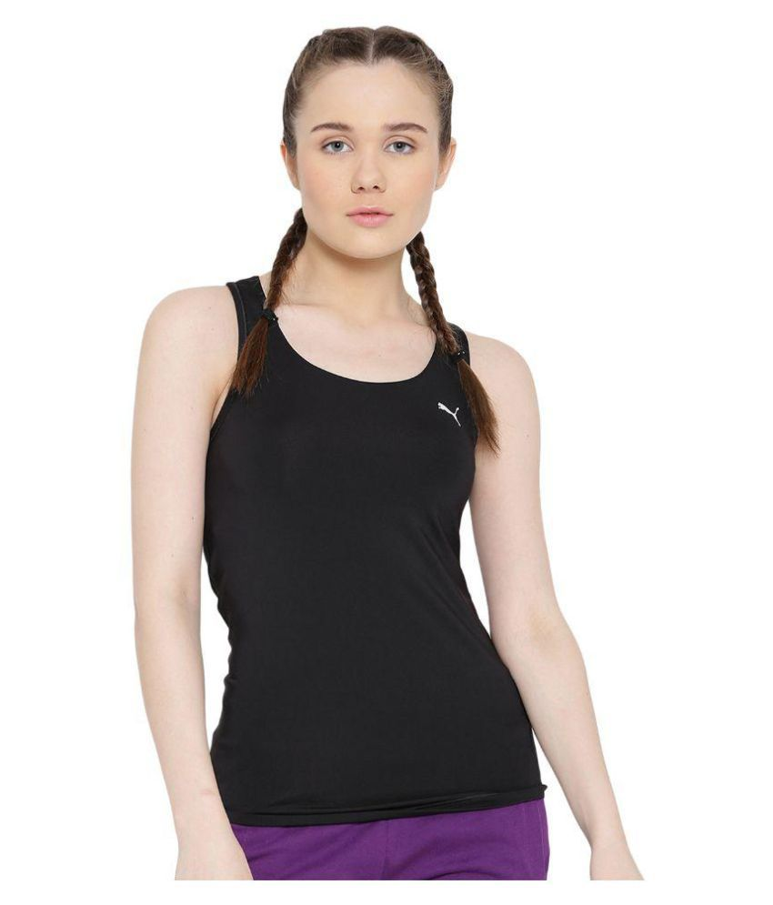 Puma Womens Black Essential RB Tank Top