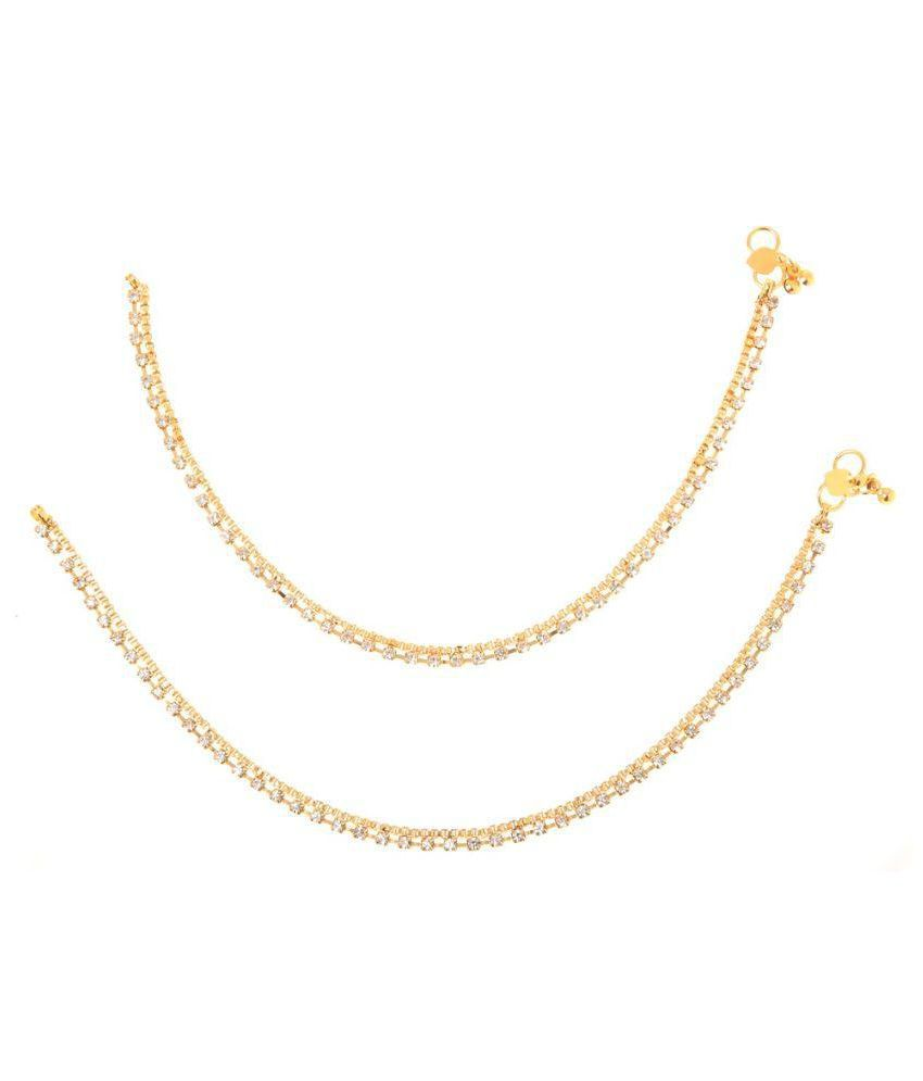 Goldnera Golden Alloy Anklets.