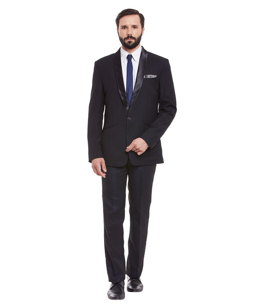 Canary London Black Solid Casual Suit
