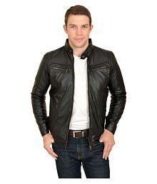 Urbano Fashion Black Leather Jacket