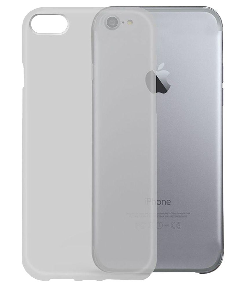 buy popular ad1d9 a878f Apple iPhone 7 Back Cover by Orzly - White - Plain Back Covers ...
