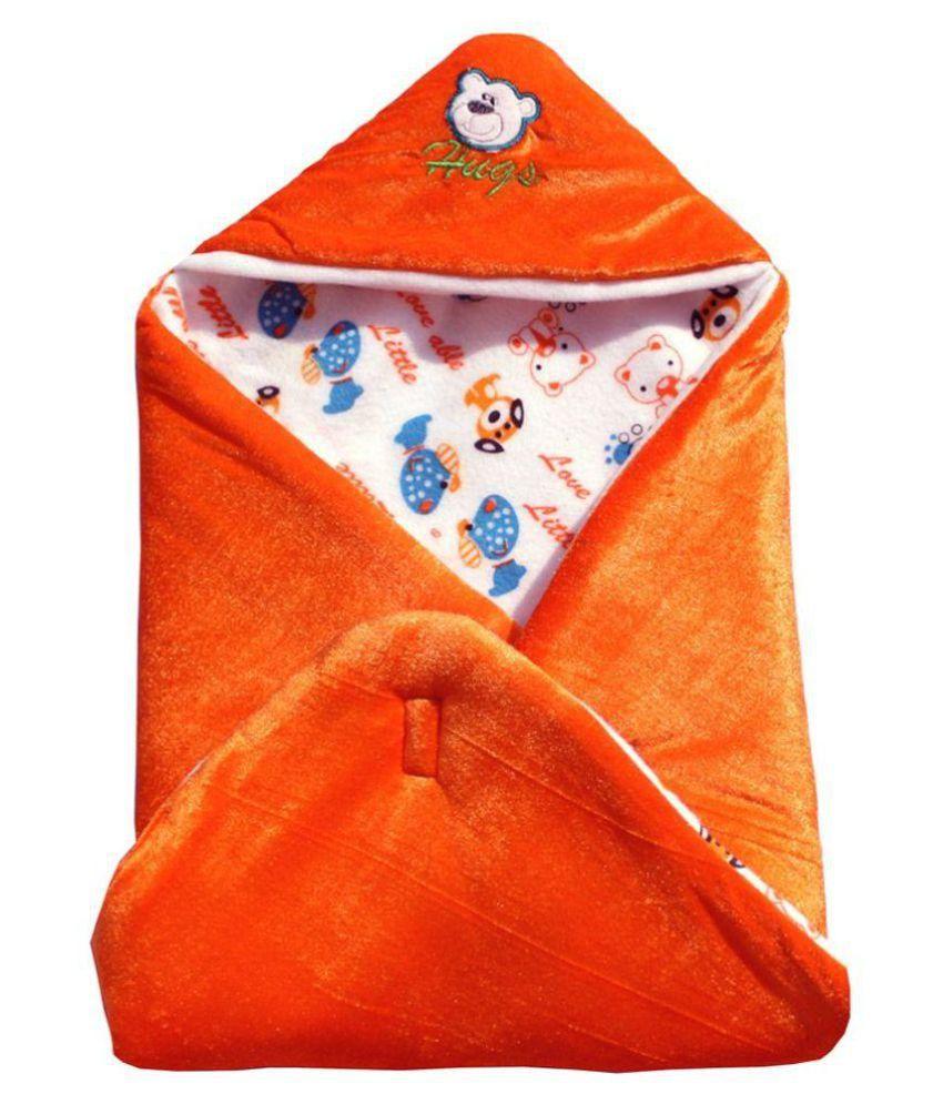 Chhote Janab Orange Cotton  Baby Wrap