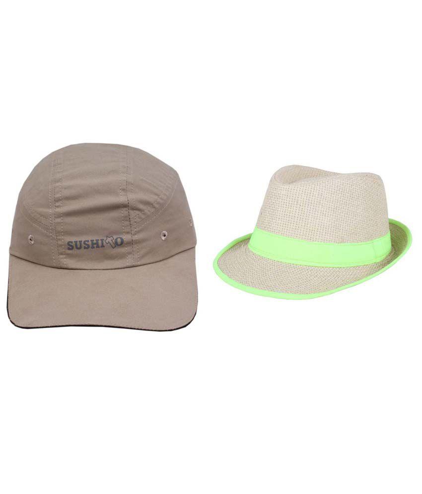Jstarmart Gray Plain Polyester Caps