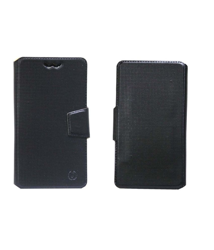 Gionee CTRL V4 Flip Cover by Jojo   Black available at SnapDeal for Rs.590