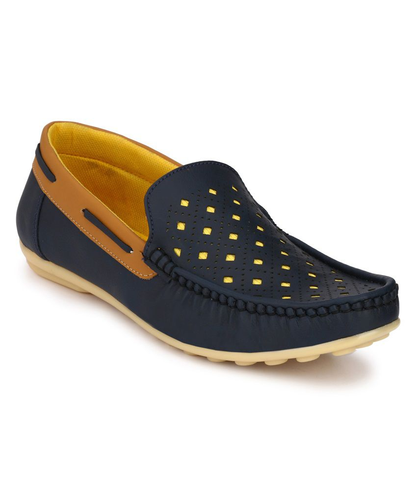 R M Shoes Navy Loafers